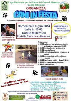 La #LegadelCane di #Messina organizza Cani in Festa il prossimo 6/7