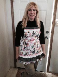 Valentine's themed apron I made for Rachel