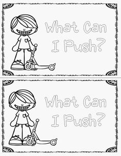 Force and Motion Pushes and Pulls Activities