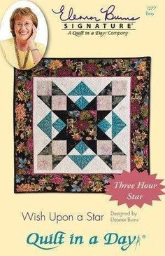 Pattern /& Acrylic Template ~ GIRL/'S BEST FRIEND ~ Eleanor Burns Quilt in a Day