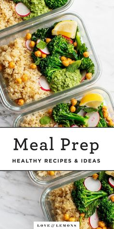 Here are my best tips and tricks for meal prep and packing healthy lunches. Recipe ideas included - all are vegetarian, with lots of vegan and gluten-free options! Healthy Packed Lunches, Make Ahead Lunches, Lunches And Dinners, Work Lunches, Best Meal Prep, Healthy Meal Prep, Healthy Food, Healthy Eating, Good Healthy Recipes