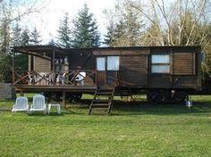 ¿Quieres unas vacaciones diferentes? Imagínate durmiendo en un viejo vagón de tren.