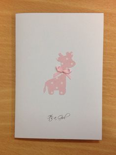 It's a Girl card by WithlovefromJosie on Etsy, £2.50
