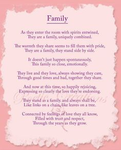Inspirational poems about family and friends