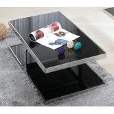 Found it at Wayfair Australia - Polished Stainless Steel Coffee Table with Dark Tempered Glass Top - 9243C