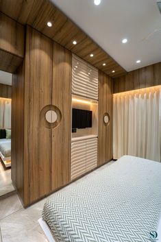 A Simple Abode With An Embellish Touch | Space Interior Design - The Architects Diary New Bedroom Design, Bedroom Designs, Bedroom Ideas, Interior Design, Space Interiors, Room To Grow, Bedroom Wardrobe, Wardrobe Design, Dream Apartment