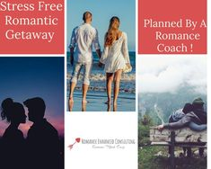 Give your sweetheart the gift of a unforgettable Romantic Getaway that is all planned out for you by a Romance Coach! This means you their would be no hassle or stress in planning and booking a romantic getaway, but that you would get to enjoy the benefits of reconnecting and romancing your sweetheart- with very little effort on your part. This is a great gift for, Valentine's Day, Your Spouse's Birthday, Anniversary or just because you need to reconnect and feel in love again. #romanticgetway
