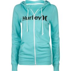 Hurley One & Only zip front hoodie. Hurley logo printed across chest. Small Hurley H label at left waist hem. Country Girl Style, My Style, Surf Style, Hurley Clothing, Casual Outfits, Cute Outfits, Casual Wear, Hooded Sweatshirts, Teen Fashion