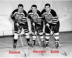 The Uke Line - Stasiuk, Horvath, Bucyk. Hockey Games, Hockey Players, Ice Hockey, Boston Bruins Hockey, Hockey Season, Wayne Gretzky, Good Old Times, Boston Sports, Nhl