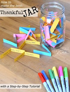 How to make a thankful jar for kids.