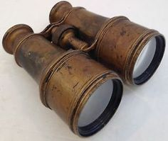 "Antique Binoculars ""Gold"" Lemaire Fabt Paris, Focuses Smoothly"