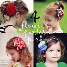 Download Bundle Pack: Rosalind, Corienne, Nadine, & Ava Sewing Pattern   Flower Accessories Sewing Patterns for Download   YouCanMakeThis.com