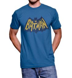 Commemorate your favorite cult classic with an awesome Junk Food Batman Vintage Logo Light Navy Adult T-shirt . Free shipping on Shirts Sheldon Has Worn orders over $50.