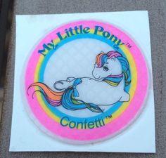 My Little Pony G1 Confetti Puffy Sticker Hasbro MLP Vintage Still on Card | eBay