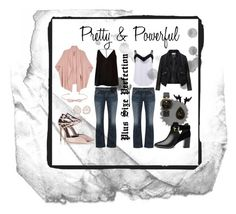 """""""Pretty and Powerful, Plus Size Collection"""" by rdsaper on Polyvore featuring Melissa McCarthy Seven7, Silver Jeans Co., Fratelli Karida, Ted Baker, olgafacesrok, Zizzi, Versace, Kimberly McDonald, River Island and plus size clothing"""