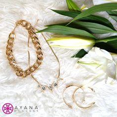 Hello #winter essentials! #jewelry #white #gold #flowers #bling #jewelrygram #fashion #accessories #AyanaDesigns #treatyoself #luxe