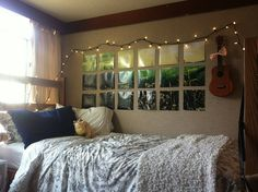 "Need an extra ""view""? Creative idea for adding a ""window"" on your wall!"
