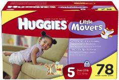 Huggies Little Movers Bonus Large Case Diapers Size 5 78ct. by Kimberly-Clark. $38.99. Huggies Little Movers DiapersShaped to fit your active baby HUGGIES Little Movers Diapers are shaped to fit babies on the go, and come with the proven leakage protection of the HUGGIES Leak Lock System. Specially shaped to fit babies as they move and play SnugFit waistband and grip tabs provide a secure fit Graphics feature Winnie the Pooh and friends Made in the USA from...