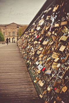Love-Locks Bridge, Paris, France