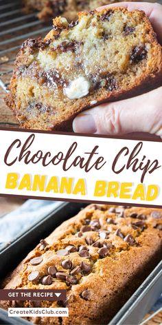 2 Bananas Banana Bread, Quick And Easy Banana Bread Recipe, Banana Bread Cupcakes, Banana Nut Muffins, Moist Banana Bread, Chocolate Chip Banana Bread, Baked Banana, Banana Bread Recipes