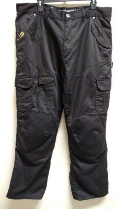 Bilt Iron Workers Kevlar Motorcycle Cargo Black Pants Zip Fly Men's Size 40 #Bilt #MotorcycleJeans #Pants