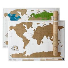 "Great gift idea for the avid traveler - ""scratch where you've been"" map!"