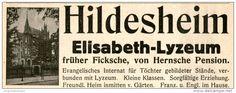 Original-Werbung/ Anzeige 1914 - HILDESHEIM ELISABETH - LYZEUM - ca. 115 x 40 mm