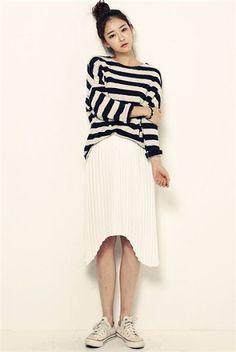 Gaya fashion wanita korea desain casual elegan terbaru 2015 2016 Party  Skirt c60b20bbf2