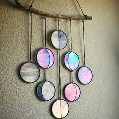 I posted this beautiful stained glass moon phase wall hanging by @dandelionglassart a few days ago (see a few posts back) and the response was huge! I couldn't resist posting a different view of it... And she is taking orders, although back ordered through February, it would be well worth the wait! . . . . . . . . . . #stainedglass #reiki #loveandlight #geminimoon #driftwood #glassart #artist #handmade #moon #moonphase #fullmoon #newmoon #decor #homedecor #loveandlight #witchy #witch...
