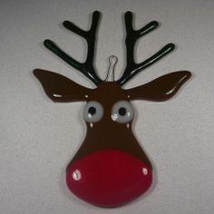 Dean's Blog: Fused Glass Reindeer