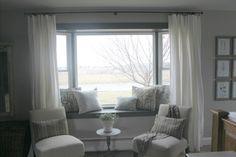 Window seat curtains.