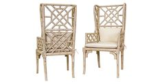 Distressed Bamboo Wingback Chairs, Pair | One Kings Lane