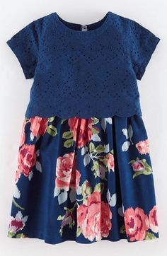 Mini Boden Broderie Dress (Toddler Girls, Little Girls & Big Girls) available at #Nordstrom