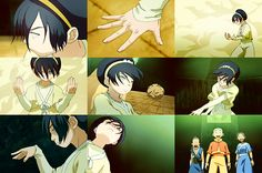 Some of my favorite shots of Toph are in the first episode with her.