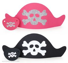pirate hats for a pirate party made with the Silhouette | Amy Robison blog