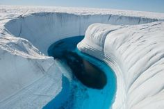 Ice Canyon, Greenland is very beautiful and attractive place. It is a perfect example of beautiful nature. Greenland is very beautiful . Beautiful Places In The World, What A Wonderful World, Beautiful Places To Visit, Places Around The World, Oh The Places You'll Go, Wonderful Places, Places To Travel, Around The Worlds, Amazing Places