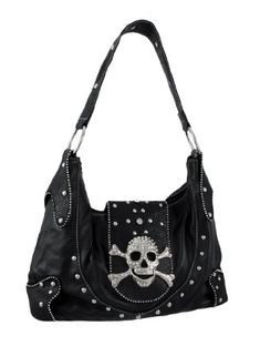 Black Snakeskin Rhinestone Skull Buckle Handbag Chrome Studs Things2Die4 http://www.amazon.com/dp/B000KA0IL6/ref=cm_sw_r_pi_dp_sGx9tb050JQD0