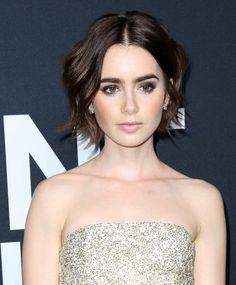 The British actress rocks a chin-length bob. #hairstyles