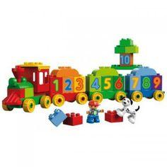 Lego Duplo Zahlenzug zum Ziehen für Kinder ab 2 Jahren. Erste Erfahrungen mit der Eisenbahn und den Zahlen spielerisch machen.
