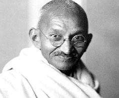 Ghandi. thank you! for so many things...showing us how one person CAN do soooo much.....