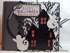 Scrapbook Mini Halloween Album   kitsnbitscraps by kitsnbitscraps, $39.99