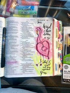 Psalms 119:11 Devotional Ideas, Daily Devotional, New Bible, Bible Art, Scriptures, Bible Verses, Psalm 106, Faith Scripture, Illustrated Faith
