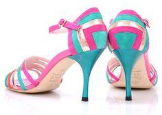 Bright colours!! Comme il Faut sandals perfect for summer!!  #commeilfaut #tangoshoes #tango #stiletto #heels #pretty #elegant #dance #tangodance #conDiva #milonga #milonguera