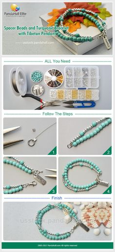 PandaHall Elite Craft Ideas: How to make two layered bracelet with gemstone beads and tibetan pendant #pandahallelite #bracelet #handmadebracelet #braceletdesign #tibeatan #gemstone #craft