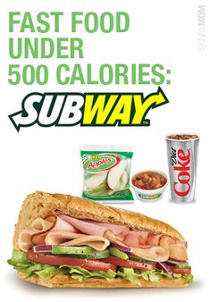 just in case time is completely against you, check out this menu under 500 calories. Low Calorie Fast Food, Healthy Fast Food Options, Fast Healthy Meals, Low Calorie Recipes, Healthy Choices, Healthy Recipes, Fast Foods, Low Carb, 500 Calories Or Less Meals