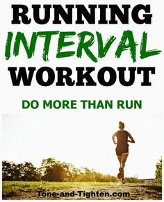 Running Interval Workout - this is a killer workout!