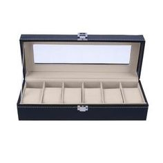 High class 6 slots wrist watch case box for displaying bracelet, watches etc. 6 insert slots and 6 removable pads inside for keeping watches organized, suit your needs perfectly; Included: 1 X Wrist Watch Display Case Box (watch not included). Wooden Jewelry, Leather Jewelry, Antique Jewelry, Watch Display Case, Watch Case, Jewellery Storage, Jewellery Display, Watch Organizer, Leather Watch Box