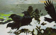 Ravens in Winter by Jamie Wyeth