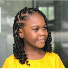 Kids Individual Braids Black Girl Hairstyles For Kids Braids Individual Kids Box Braids Hairstyles, Little Girl Braid Hairstyles, Black Kids Hairstyles, Little Girl Braids, Natural Hairstyles For Kids, Baby Girl Hairstyles, Kids Braided Hairstyles, Braids For Kids, Braids Easy