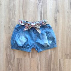 Girl's Denim Belted Bubble Shorts on mysale.com